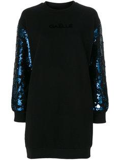 трикотажное платье с пайетками на рукавах  Gaelle Bonheur
