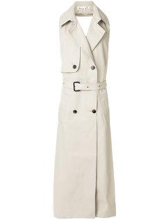 двубортное пальто без рукавов Martine Rose