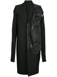пальто комбинированного кроя Rick Owens