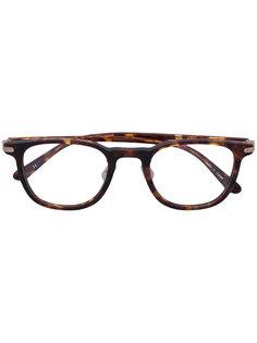 очки в квадратной оправе с эффектом черепашьего панциря Eyevan7285