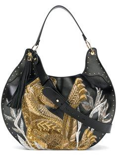 сумка с вышивкой Domaine 50 tiger Balmain