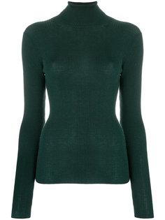 свитер с отворотной горловиной  в рубчик  P.A.R.O.S.H.