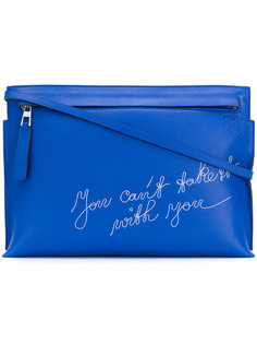 T Pouch embroidered clutch Loewe