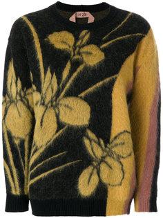 свитер с цветочным узором интарсия  Nº21