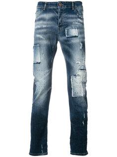джинсы с потертой отделкой Frankie Morello