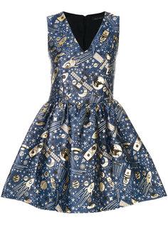 жаккардовое платье клеш Frankie Morello