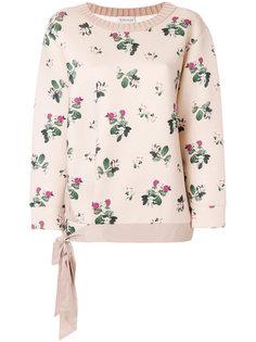 свитер с цветочной вышивкой  Moncler