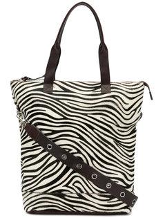 сумка-тоут с зебровым принтом  P.A.R.O.S.H.
