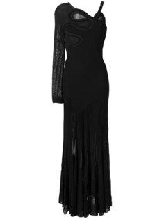 длинное платье  с открытым плечом Roberto Cavalli