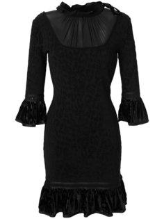 расклешенное платье  Roberto Cavalli