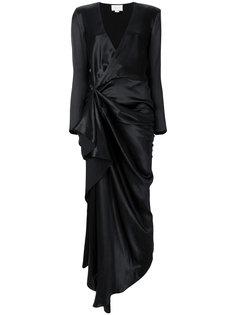удлиненное платье с запахом Redemption