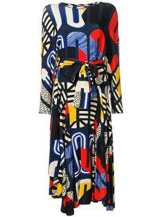 платье миди с абстрактным принтом  Henrik Vibskov