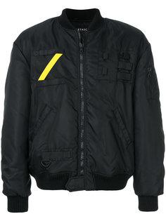 куртка-бомбер с контрастной полосой Letasca