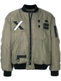 куртка-бомбер с заплаткой Letasca