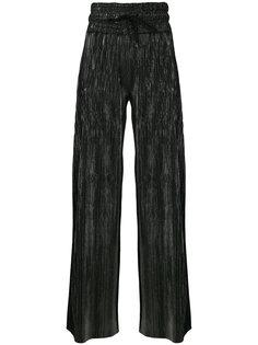 широкие брюки с блестящей отделкой Pierre Balmain