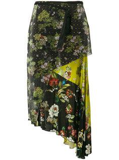 многослойная юбка с цветочным принтом  IM Isola Marras