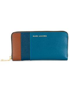 кошелек Saffiano дизайна колор-блок Marc Jacobs