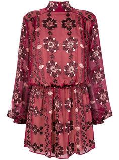 платье с цветочным принтом Pierre Balmain