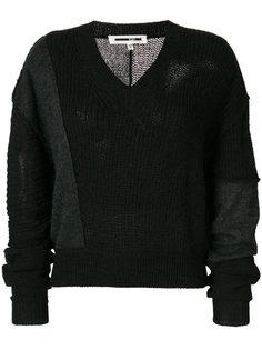 пуловер с V-образным вырезом и вставками  McQ Alexander McQueen