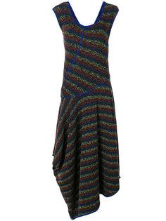 трикотажное асимметричное платье  Loewe