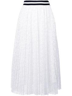 кружевная плиссированная юбка  MSGM