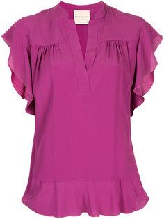 блузка с оборками Erika Cavallini
