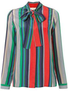 блузка в полоску с бантом Erika Cavallini