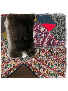 шарф с отделкой из кроличьего меха Pierre-Louis Mascia