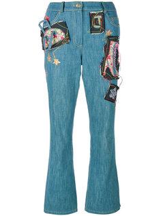 джинсы с нашивками John Galliano Vintage