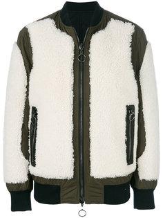 куртка-бомбер с панелями из овчины Drome