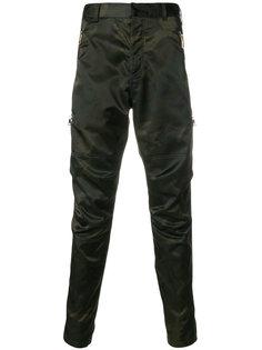 брюки с камуфляжным принтом Balmain