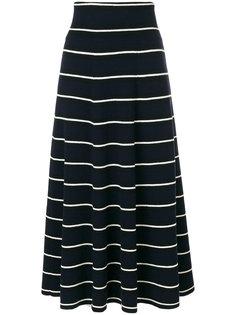 полосатая расклешенная юбка Chinti & Parker