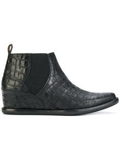 ботинки с эффектом крокодиловой кожи Cotélac