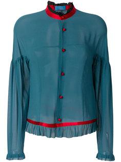 прозрачная рубашка с рюшами  Undercover