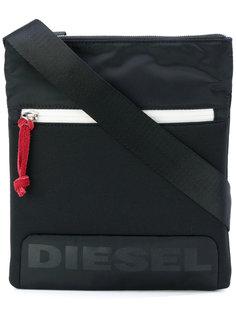 сумка-почтальонка с принтом-логотипом Diesel
