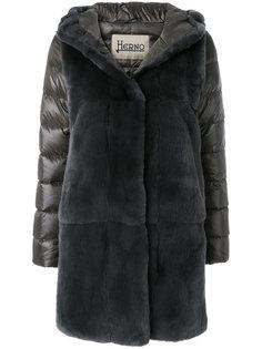 меховое пальто с дутыми рукавами Herno