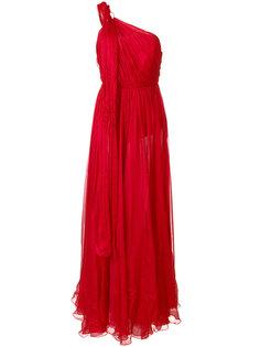 асимметричное платье на одно плечо  Maria Lucia Hohan