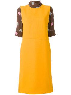 многослойное платье с отворотной горловиной  Marni