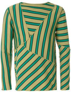 свитер в асимметричную полоску Marni