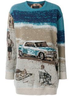 свитер с принтом  Nº21