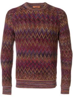 свитер с зигзагообразным принтом Missoni