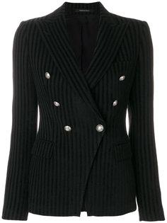 полосатый двубортный пиджак  Tagliatore