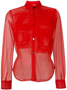 прозрачная рубашка  с рюшами Comme Des Garçons Girl