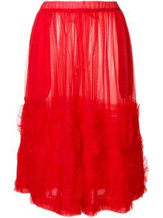юбка миди  с рюшами Comme Des Garçons Girl