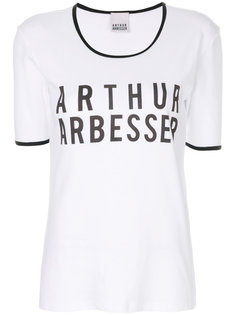 футболка с логотипом и контрастной отделкой Arthur Arbesser