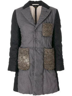 пальто лоскутного кроя Comme Des Garçons