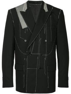 пиджак с открытой строчкой Consistence