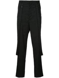 брюки кроя слим с подтяжками Consistence