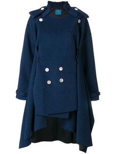 асимметричное двубортное пальто Undercover