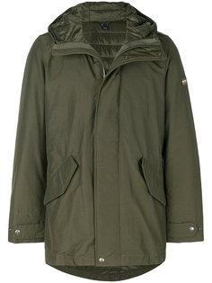 удлиненное пальто в стиле милитари Woolrich